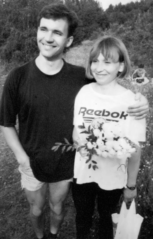 Ekaterina met her husband Dmitry on the mountain Vityaz