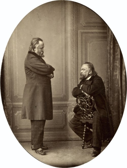 A. Herzen. Double portrait by S. Levitsky. Paris. 1865