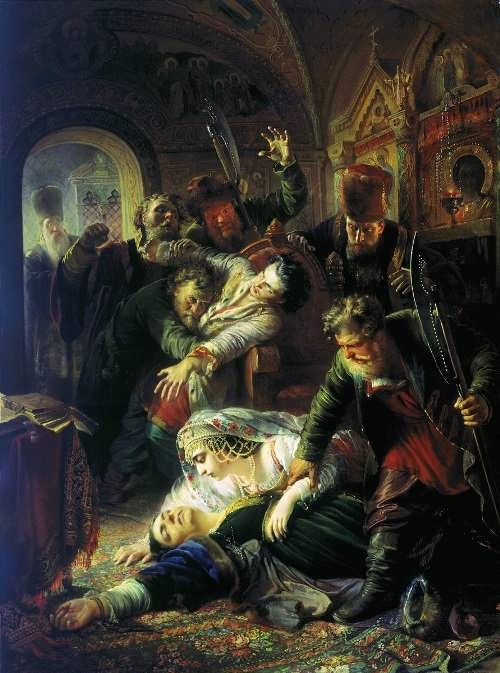 K.E. Makovsky. Agents of False Dmitry killed the son of Boris Godunov