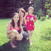 Nifontova and her children