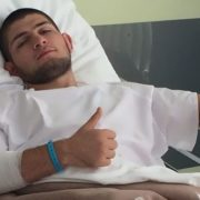 Khabib Nurmagomedov at the hospital