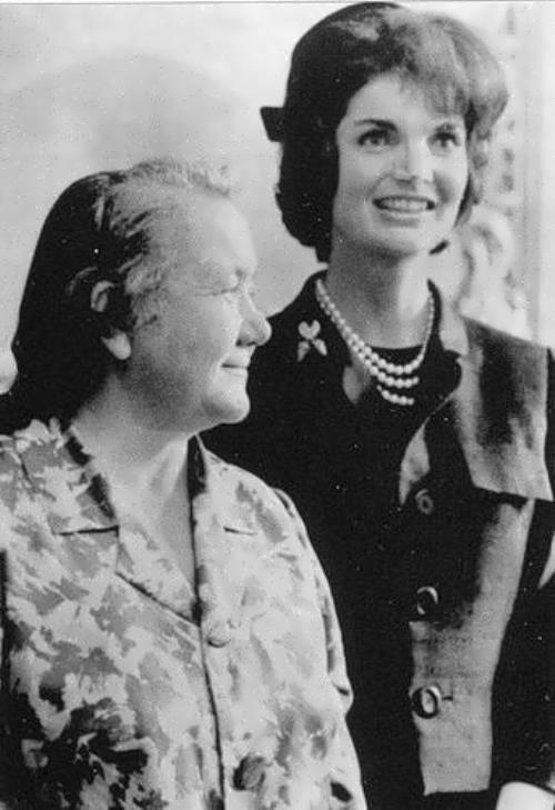 Jacqueline Kennedy and Nina Kukharchuk