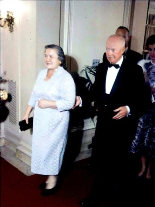 Nina Petrovna with Eisenhower