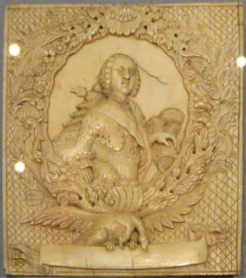 plaque with a portrait of Grand Duke Peter Fedorovich