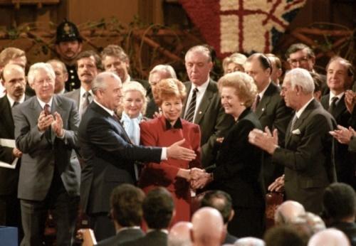 Gorbachevs and Margaret Thatcher