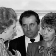Margaret Thatcher and Raisa Gorbacheva
