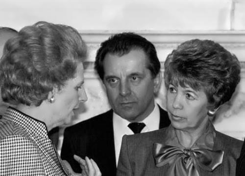 Margaret Thatcher and Raisa Gorbacheva