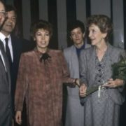 Raisa Gorbacheva and Nancy Reagan in the State Tretyakov Gallery, 1988
