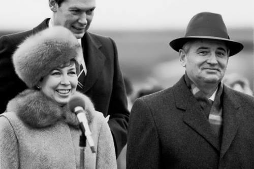 Raisa Gorbacheva and her husband