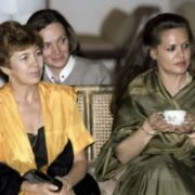 Raisa Gorbacheva at a reception in Delhi during her official visit to India