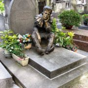 Gravestone of Vaslav Nijinsky at Montmartre cemetery in Paris