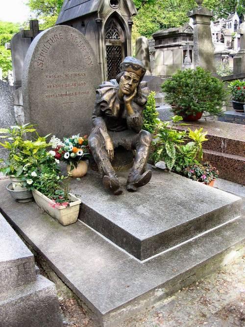 Gravestone of Vaslav Nijinsky at Montmartre cemetery in Paris