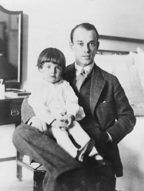 Nijinsky with daughter Kira
