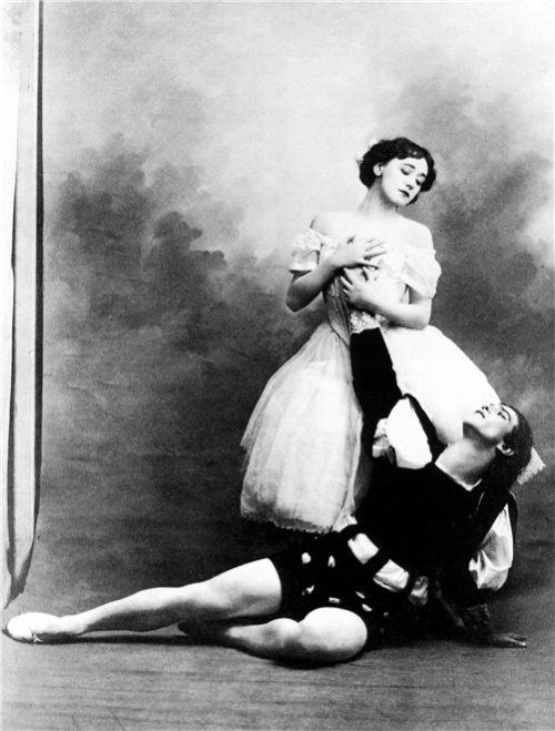 Tamara Karsavina and Vaslav Nijinsky in the ballet Giselle