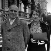 Vaslav Nijinsky with his wife Romola in Vienna