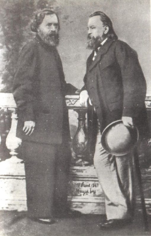 N.P. Ogarev and A.I. Herzen