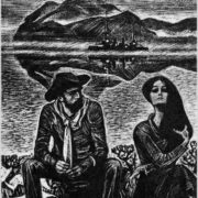 A hundred miles along the river. Illustration by Savva Brodsky