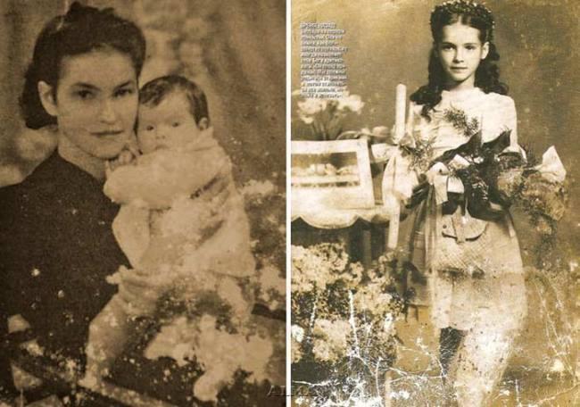 Barbara Brylska in her childhood