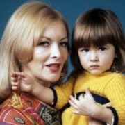 Barbara Brylska with daughter