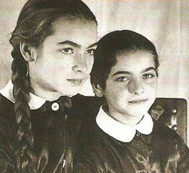 Barbara Brylska with her sister Yadviga