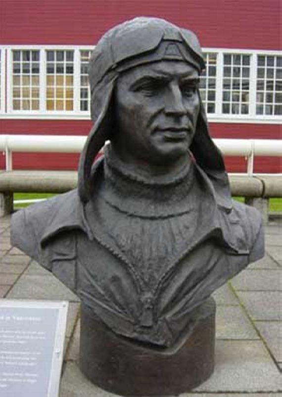 Bust of Valery Chkalov