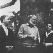 Khachaturyan with E. Hemingway and P. Neruda