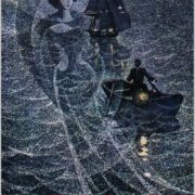Running on the waves Illustration by Savva Brodsky grin