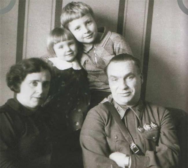 Valery Chkalov and his family