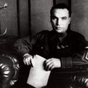Valery Chkalov in the office of his apartment