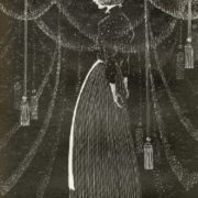 Velvet curtain Illustration by Savva Brodsky grin