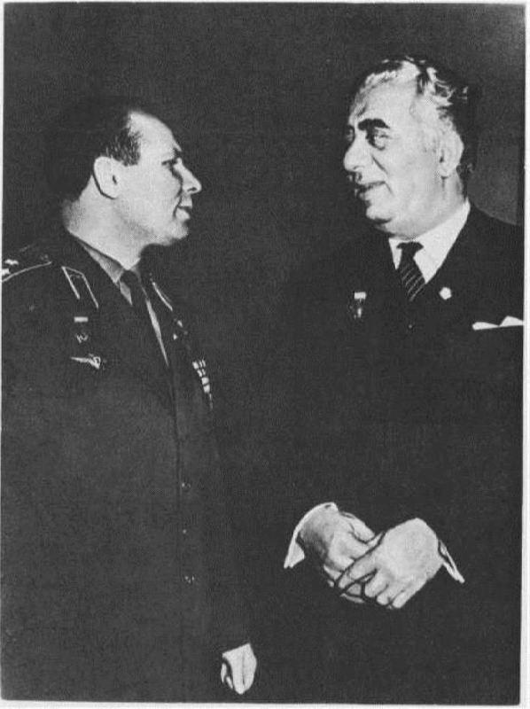 Yuri Gagarin and Aram Khachaturyan