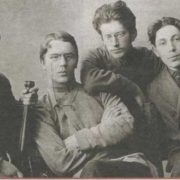 The far left - Zinovy Peshkov, second from the right - Yakov Sverdlov
