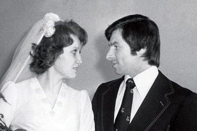 The wedding of Valery Kharlamov and Irina Smirnova