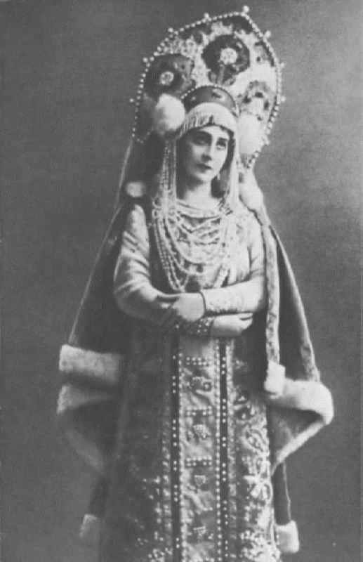 A.V. Nezhdanova in Koschei the Immortal. The Bolshoi Theater, 1917