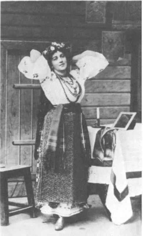E.K. Mravina in the role of Oksana. Christmas Eve. The Mariinsky Theater, 1895