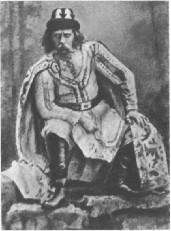 F.I. Stravinsky as Prince Mstivoi. Opera-ballet Mlada. The Mariinsky Theater, 1892