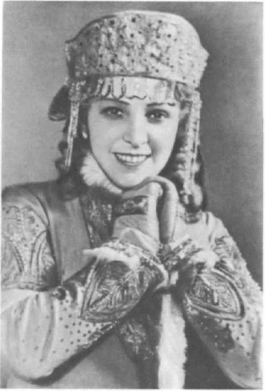I. Maslennikova in the role of Snow Maiden. Bolshoi Theater, 1954