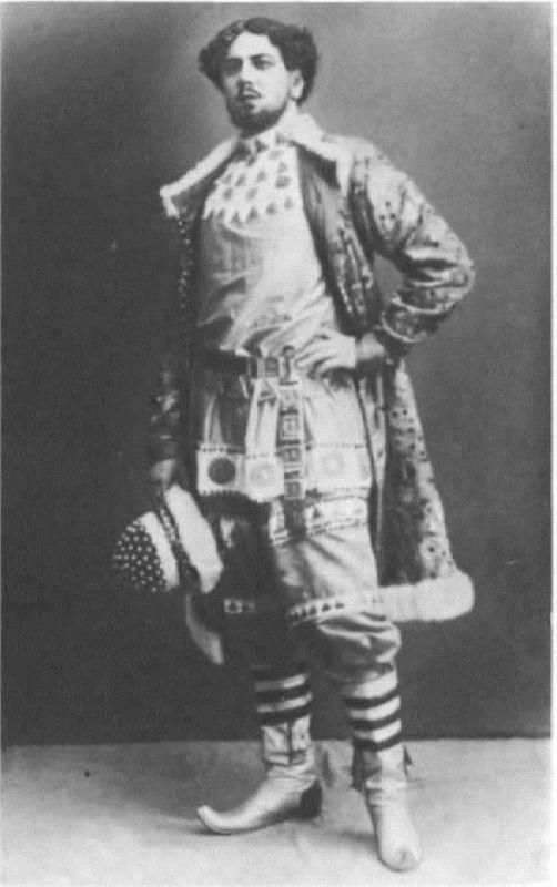 I.V. Gryzunov in the role of Mizgir. Bolshoi Theater, 1911