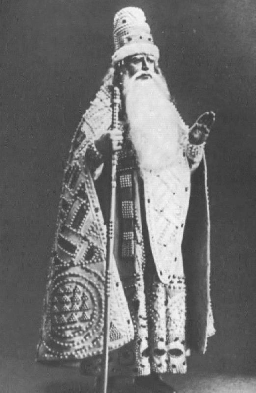 L. V. Sobinov in the role of Tsar Berendey. The Snow Maiden. Bolshoi Theater, 1911
