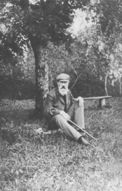 N.A. Rimsky-Korsakov under his beloved tree in 1904