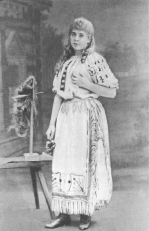 N.V. Salina in the role of Snow Maiden. Russian private opera, 1885