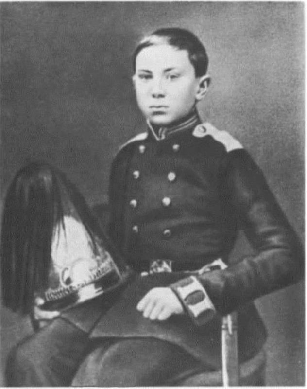 Nikolai Rimsky-Korsakov - Cadet of the Naval Cadet Corps in parade uniform, 1857