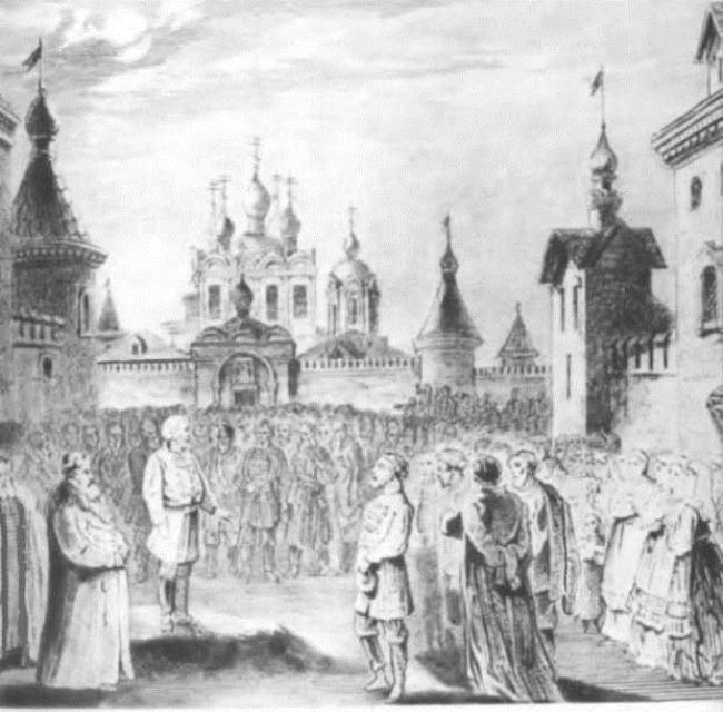 Pskovityanka. Mariinskii Opera House. 1873. Scenery by M.A. Shishkov
