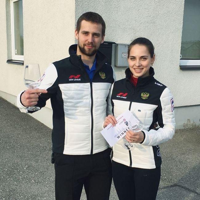 Anastasia Bryzgalova and her husband Alexander Krushelnytsky