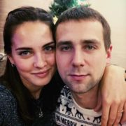 Nastya Bryzgalova and her husband